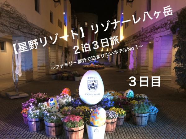 【リゾナーレ八ヶ岳】赤ちゃんと2泊3日旅(最終日) 〜アクティビティ豊富な雨でも大丈夫なホテル〜