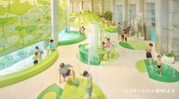 【イルマーレ】森の中の海?リゾナーレ八ヶ岳のプールに新しく誕生した水遊びエリア!